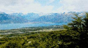 Lago Fagnano Huayno - pontilhado