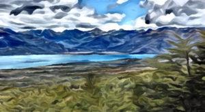 Filtro Desenho do lago Fagnano Huayno