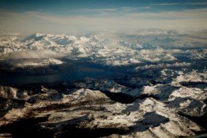 Imagem aérea de Tierra del Fuego