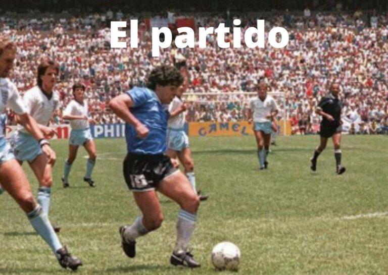Maradona fazendo o gol do século